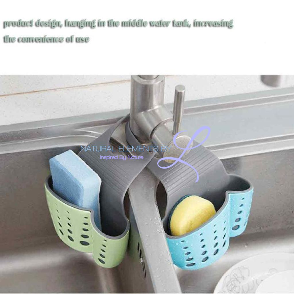 Kitchen Drain Holder Wheat Fiber Mini Storage Rack Accessories