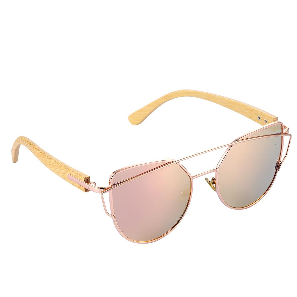 e527d140fe Natural Elements By L   Barcur Lady Luxury Bamboo Cat Eye Sunglasses