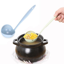 Ladle - Wheat Straw Ladle With Strainer Extra Long Handle