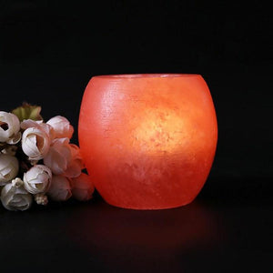 Lamp - Himalayan Natural Salt Crystal Tea Lights Candle Holder
