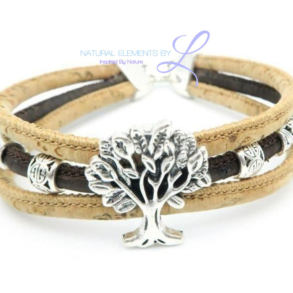 Mb Cork Tree Of Life Bracelet