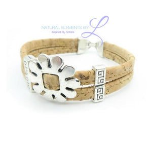 Mb Flower Cork Bracelet