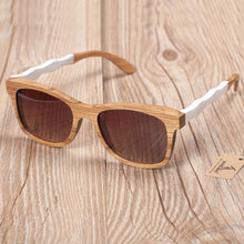 Men Sunglasses - BOBO BIRD Creative Wavy Natural Wooden Polarized Sunglasses