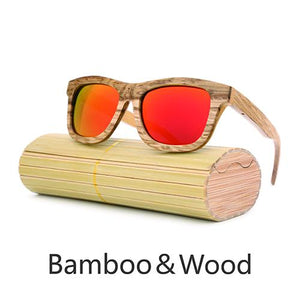 Mens Sunglasses - ANGCEN Retro Wood Polarized Sunglasses Handmade
