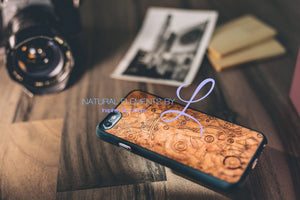 Mmore All-Natural Wood Mechanism Phone Case