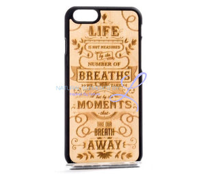 Mmore Natural Wood The Meaning Of Life Phone Case Iphone 5/5S/se / Black