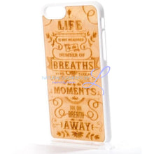 Mmore Natural Wood The Meaning Of Life Phone Case Iphone 5/5S/se / White
