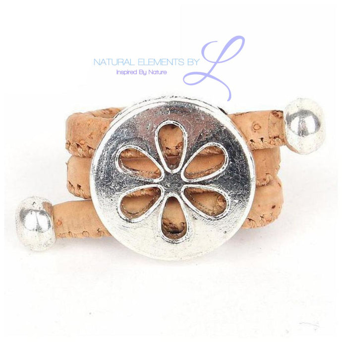 Natural Cork Antique Hollow Flower Vintage Ring