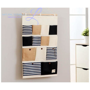Natural Elements 13 Pocket Wall Hanging Storage Organizer