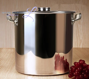 Natural Elements High Quality Stainless Steel Large Capacity Soup Pot