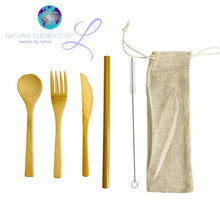 Natural Elements Kids Bamboo Flatware Set