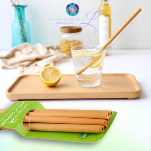 Bamboo Reusable Organic Drinking Straws