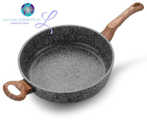 "Natural Elements 11"" Nonstick Frying Pan With 2 Wood Handles"