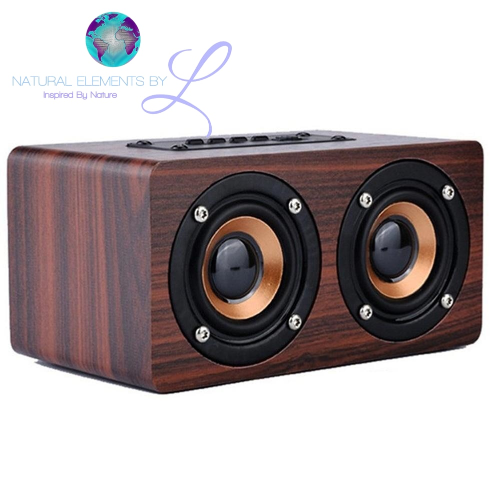 HiFi Retro All Natural Portable Mini USB Charging Speakers W/ Wireless Bluetooth