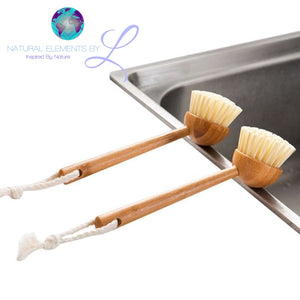 Natural Elements Bamboo Long Handle Multipurpose Cleaning Brush