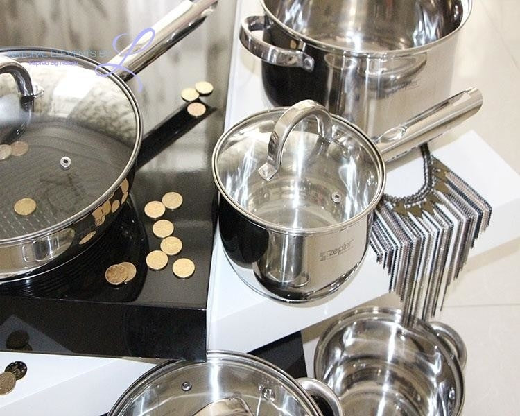 Natural Elements Composite Stainless Steel Multifunctional 12pcs Cookware Set