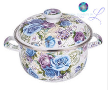 Elements Flower Casserole Enamel Pot | Set