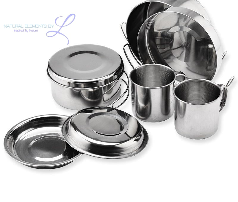 Elements QueenTime  Stainless Steel Camping Cookware Set
