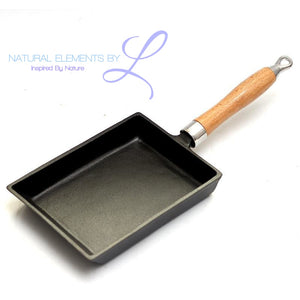 Square Cast Iron Pot Non-stick Non-coating Frying Pan Skillet