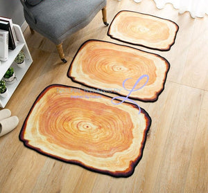 Wood Tree Ring Door Mats Rug