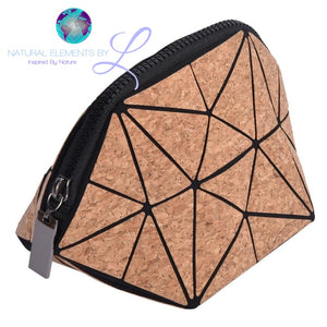 Cork Life Geometric Travel Organizer Bag Mini HandBag