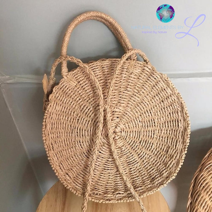 Bohemian Bali Rattan Bags Circle Lady Straw Handbags