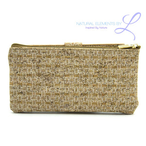 Natural Elements Cork Life Zipper Purse Wallet Weaving Pattern Bag-350-A