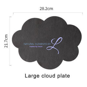 Natural Slate Serving & Baking Tray Large Cloud