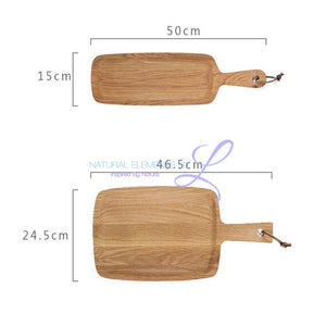 Natural Wooden Rectangle Bread Eco-Friendly Cutting Chopping Board