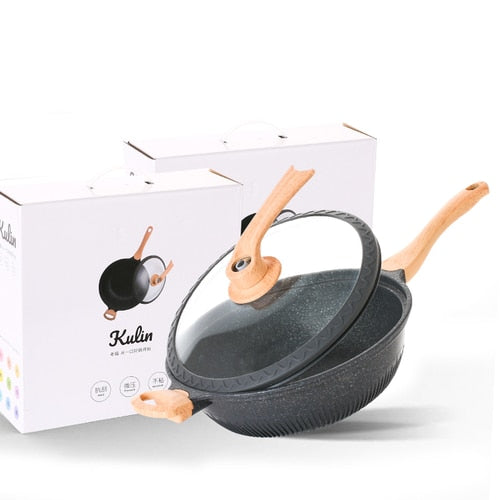Multi-Function Flat-Bottom Electromagnetic Wok Pan
