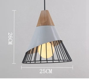 Natural Elements Wood Pendant Slope LED Hanging Lamp
