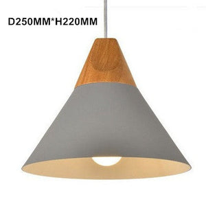Natural Elements Nordic Modern Aluminum Wood Hanging Pendant Lights