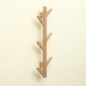 Natural Elements 1 PC Bamboo Wooden Hanging Coat Rack