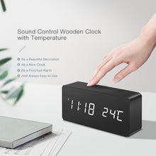 Natural Elements Digital LED Alarm Temp Display Calendar Table Clock
