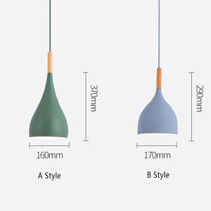 Natural Elements Wood Hanging Modern E27 LED Hanging Lamp