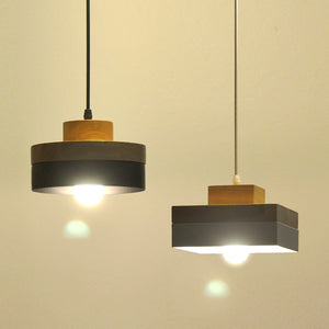 Natural Elements Nordic LED Modern Wooden Hanging Lamp