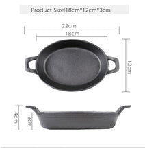 Natural Elements Oval Cast Iron Non Stick Frying Pan