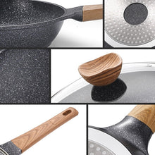 Natural Elements Wood Stone Diva Non-stick Frying Pan with/without Cover