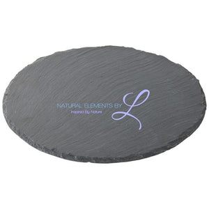 Round Natural Slate Plate Diameter 20Cm 25Cm 30Cm Show As Picture / Diameter20Cm
