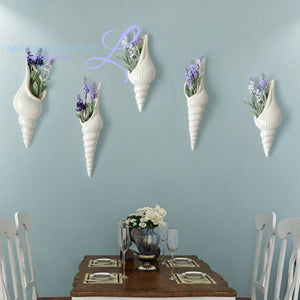 Sea Shells Wall Vase Decoration