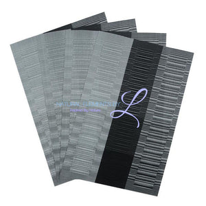 Set Of 4 Bamboo Fiber Placemats Grey And Black Kitchen Elements