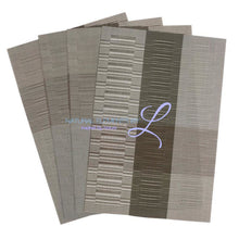 Set Of 4 Bamboo Fiber Placemats Grey And Silver Kitchen Elements