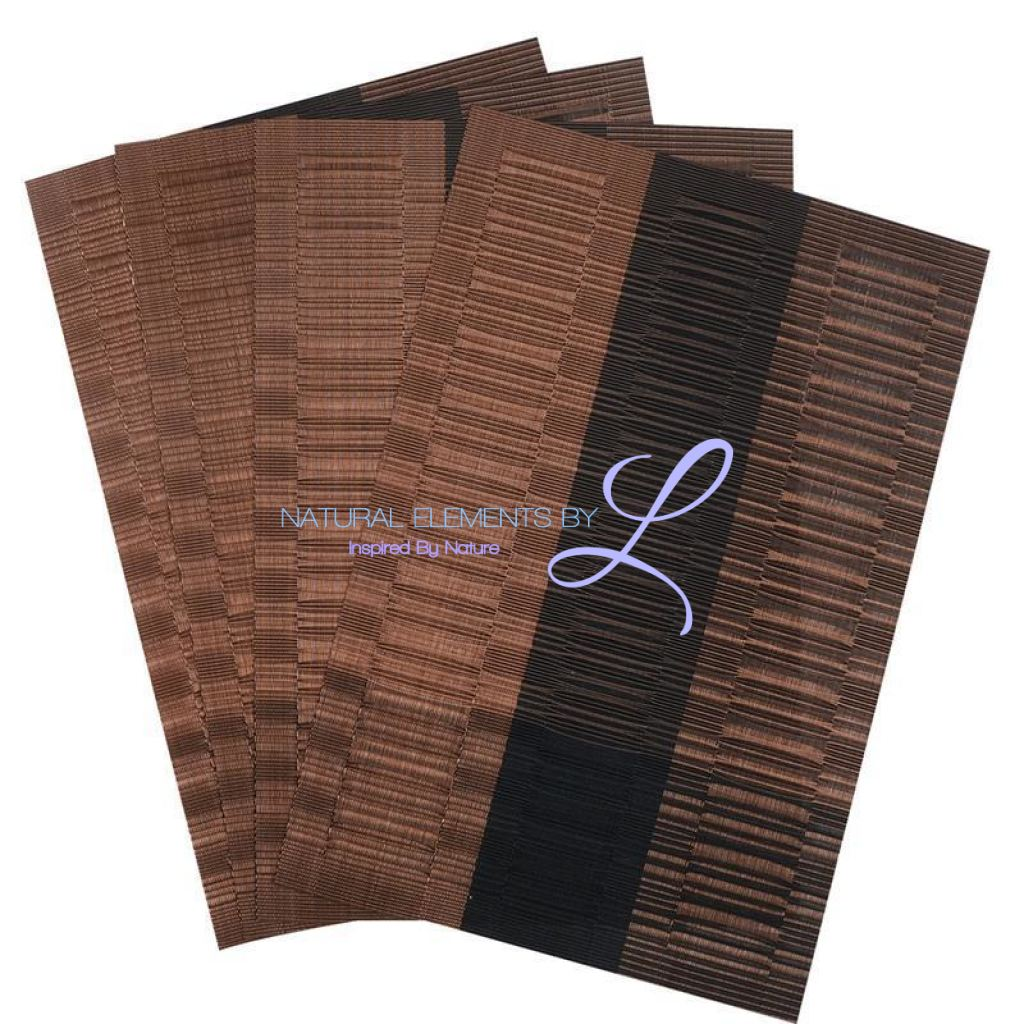 Set Of 4 Bamboo Fiber Placemats Kitchen Elements