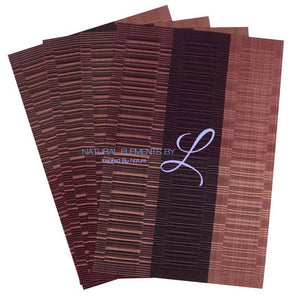 Set Of 4 Bamboo Fiber Placemats Purple Kitchen Elements