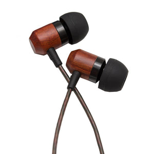 Shozy Zero HiFi Wooden Dynamic Deep Bass In Ear Earphones Earbuds