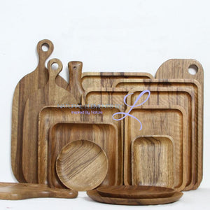 Solid Zebrawood Chopping Board Serving Tray Plates Round/rectangle Chopping Board