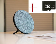 Speakers - Mini Hi-Fi Dual Sound Linen Wireless Motion Bluetooth Speaker Subwoofer