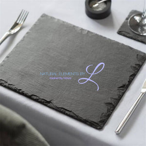 Square Natural Slate Plate Show As Picture / 20X20Cm Kitchen Elements