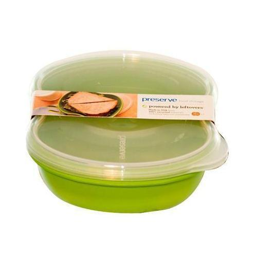 Storage Containers - Preserve Green Square Sandwich Food Storage (1x2 PK)