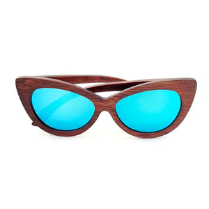 Sunglasses - BOBO BIRD Ladies Cat Eyes Classic Wood Sunglasses